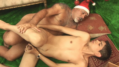 A tight, wet, young Christmas gift